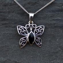 Whitby Jet Butterfly Pendant