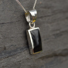 Whitby Jet Rectangular Pendant 190P