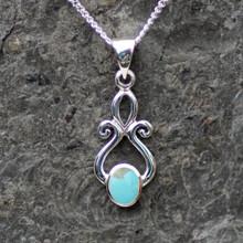handmade kingman turquoise and silver pendant