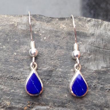 Lapis Lazuli and Sterling Silver Teardrop Earrings