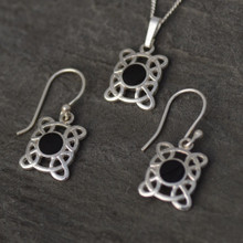 Whitby jet Celtic Set