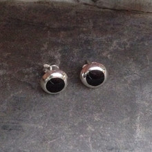 Whitby jet ear studs