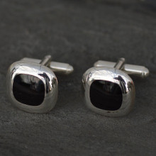 Whitby Jet square Cufflinks 001CC