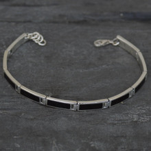 ladies whitby jet ingot bracelet