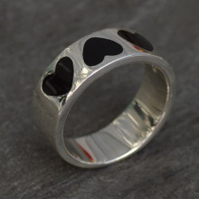 whitby jet heart ring