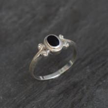 fancy oval whitby jet ring