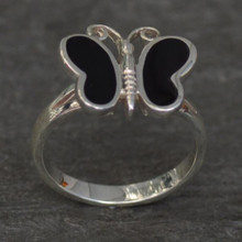 Whitby Jet butterfly ring