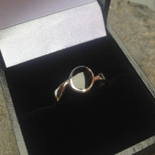 whitby jet offset oval ring