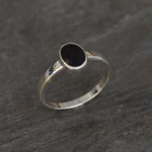 plain oval whitby jet ring