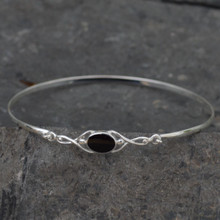 Celtic Whitby jet bangle