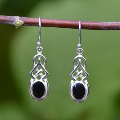 Celtic Whitby jet earrings