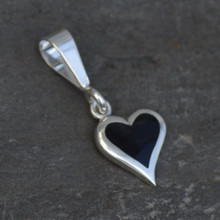 Whitby Jet Heart Charm