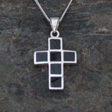 Whitby Jet Cross Pendant
