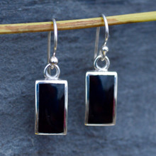 Whitby Jet ingot earrings