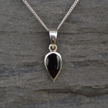 Whitby Jet Small Teardrop Pendant 020P
