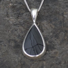 Sold bail Whitby jet teardrop pendant