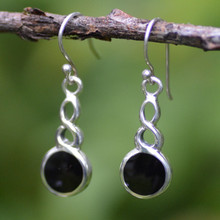 Large round Celtic drop earrings