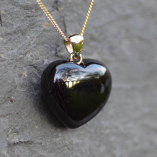 9ct gold puff heart pendant