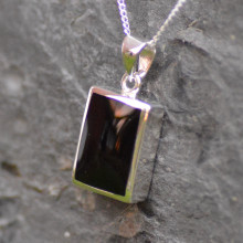 Oblong Whitby Jet pendant