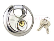 "70mm 2-3/4"" Steel Armor Disc Padlock for Trailer / Self Storage"