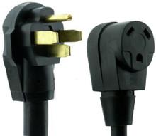 "RV Dogbone Adapter 50 amp Male 30 amp Female 12"""