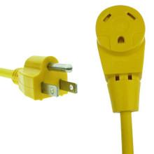 "RV Dogbone Adapter 15 amp Male 30 amp Female 12"""