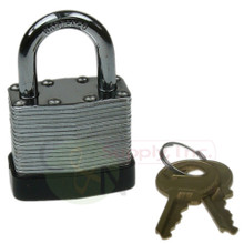 "1-1/2"" 40mm Laminated Padlock Keyed Alike Master A389"
