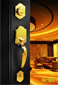 PVD Finish Entry Door Handleset -Custom Keyed Available