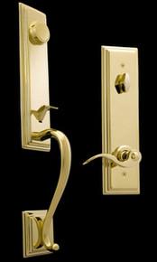 PVD Finish Entry Door Handleset - Custom Keyed Available