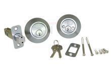 Satin Chrome Double Cylinder Entry Door Deadbolt - New