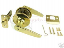 Polished Brass Privacy Lever Lock - Brand New!! N-B-3