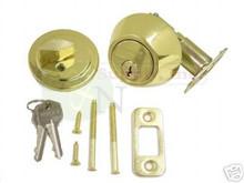 Polished Brass Single Cylinder Entry Deadbolt - New!
