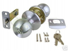 Keyed Alike Entry Knob, Satin Chrome - Brand New!!