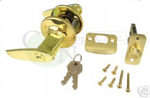 Keyed Alike Entry Lever Lock, Polish Brass- New!!!