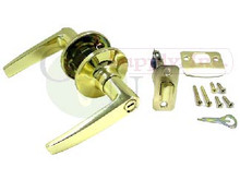 Polished Brass Privacy Lever Lock - Brand New!!