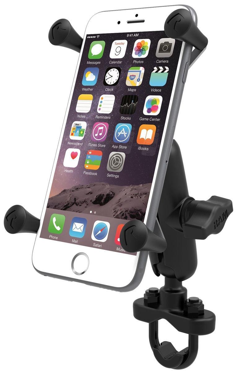 meet e44b3 3e746 RAM Motorcycle Bike Handlebar Rail Mount X-Grip Cell Phone Holder iPhone 6  Plus