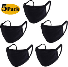 Reusable Cloth Mask Cotton Fabric Face Covering - Pack of 5
