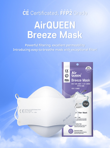 Airqueen Breeze Mask CE Certified FFP2 FDA 510k Clearance Pack of 10