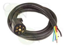 Universal Molded 7 Way Trailer Cord 13 foot RV Light Plug Wire Harness Connector