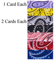 SCRUNCHIES PATTERN 2 PCS CARD