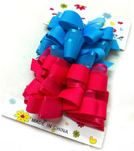 BARRETTE BOW 4PCS/CD [28.S2]