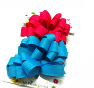 BARRETTE BOW 4PCS/CD [28.S3]