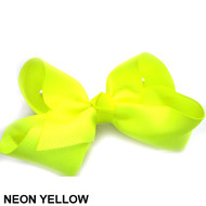 CLIP BOW NEON YELLOW