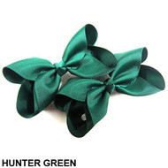 CLIP BOW PAIR DZ HUNTER GREEN