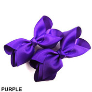 CLIP BOW PAIR DZ PURPLE