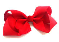 "6.5"" RED CLIP BOW 12 PCS/ DZ"