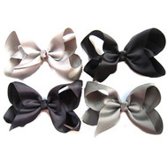 "6.5"" CLIP BOW / BLACK COLOR ASSORTMENT  12 PCS / DZ"