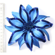 FLOWER ROYAL BLUE