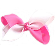 CLIP BOW WHITE + PINK
