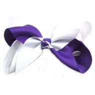 CLIP BOW WHITE + PURPLE